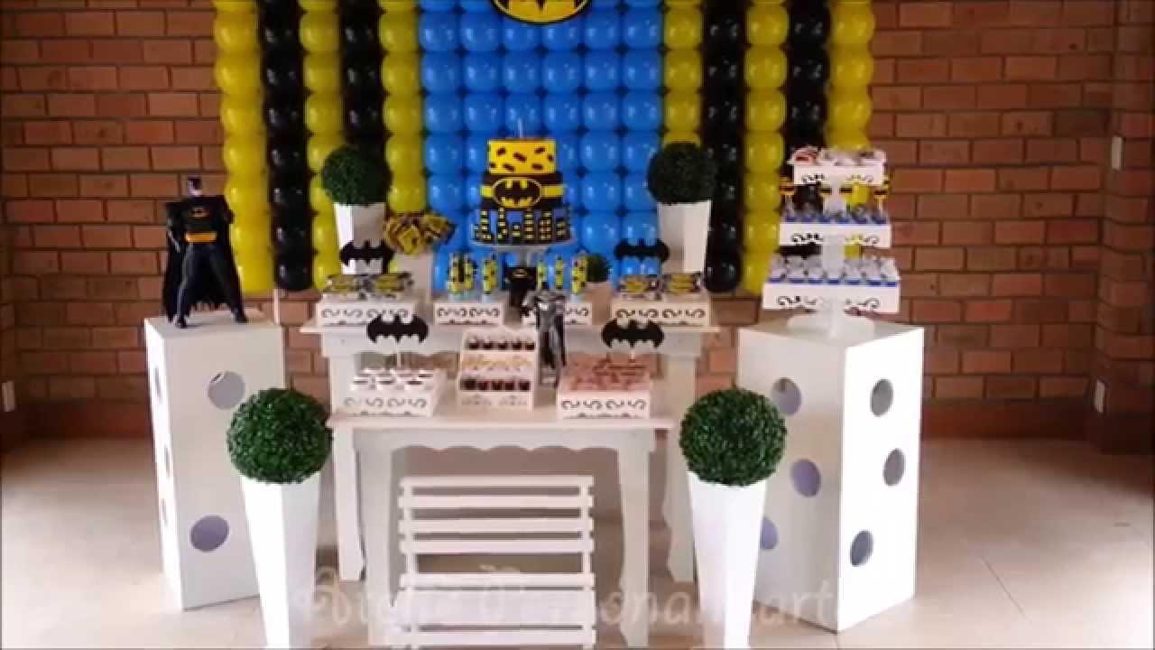 decoracao festa batman:Decoração de festa infantil Batman – Provençal – YouTube
