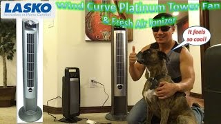 Lasko Wind Curve Platinum Tower Fan & Fresh Air Ionizer Review | Model 2551