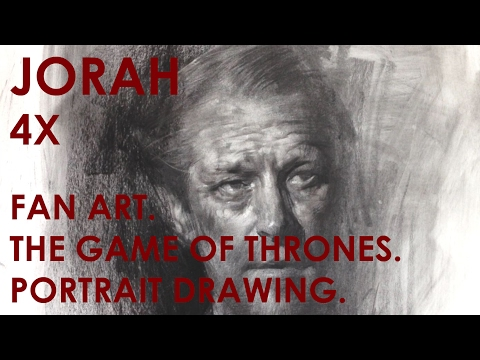 Demo, Jorah (Game of Thrones), Art of Charcoal Drawing by Zin Lim.