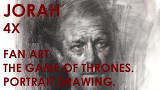 Demo, Jorah (Game of Thrones), Art of Charcoal Drawing by Zin Lim.