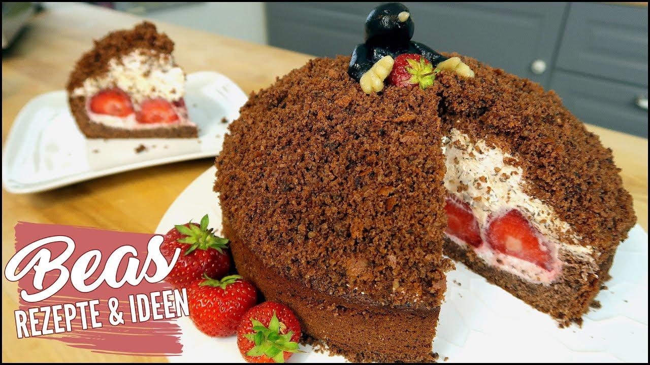 Maulwurfkuchen Rezept Mit Erdbeeren Schoko Krumeltorte Backen Mit