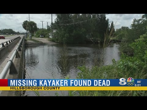 Missing kayaker found dead in Gibsonton