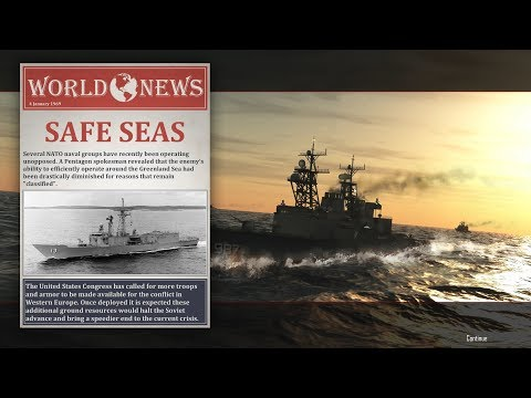 Cold Waters Gameplay 1968 - mission 5 - Tankers and Tanders in Greenland Sea