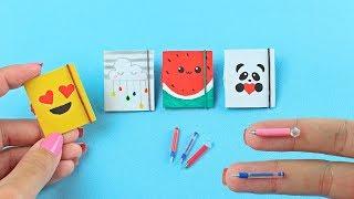 Como fazer: Mini Cadernos, Caneta (que escreve) e Lápis para Barbie, MH entre outras bonecas!