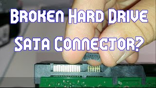 How to Fix a Broken Hard Drive Sata Connector
