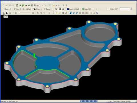 SURFCAM Tutorial - 2-Axis: Chamfer and Corner Radius Milling