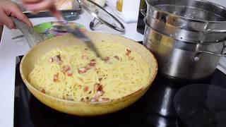 Карбонара со сливками и беконом / Вкуснейшие спагетти