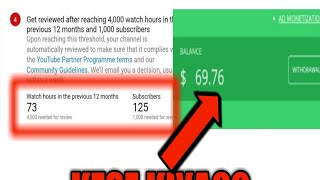 How MONETIZE Videos Before 4000 Watch time and 1000 Subscriber | 100% Working Guarantee