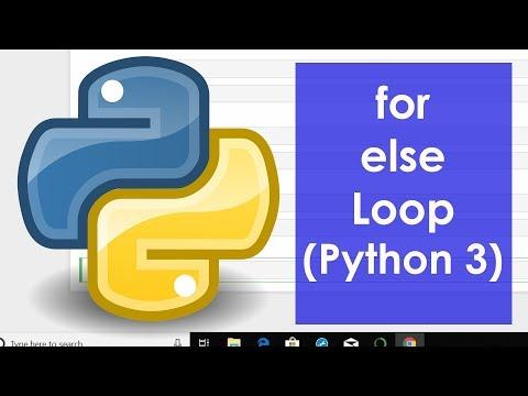 For Else Loop (Python 3)