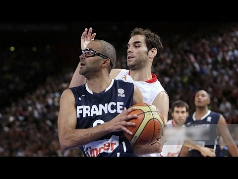 Spain @ France 2012 Olympic Men's Basketball Exhibition FULL GAME Spanish