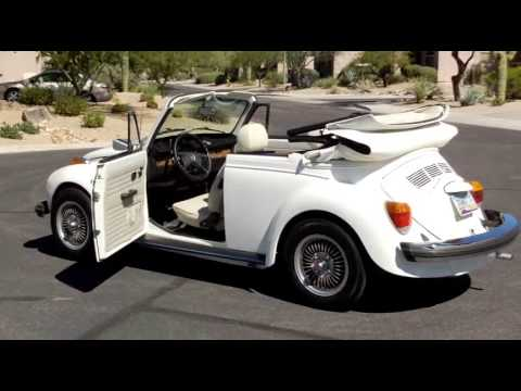 1978 White VW Super Beetle Convertible