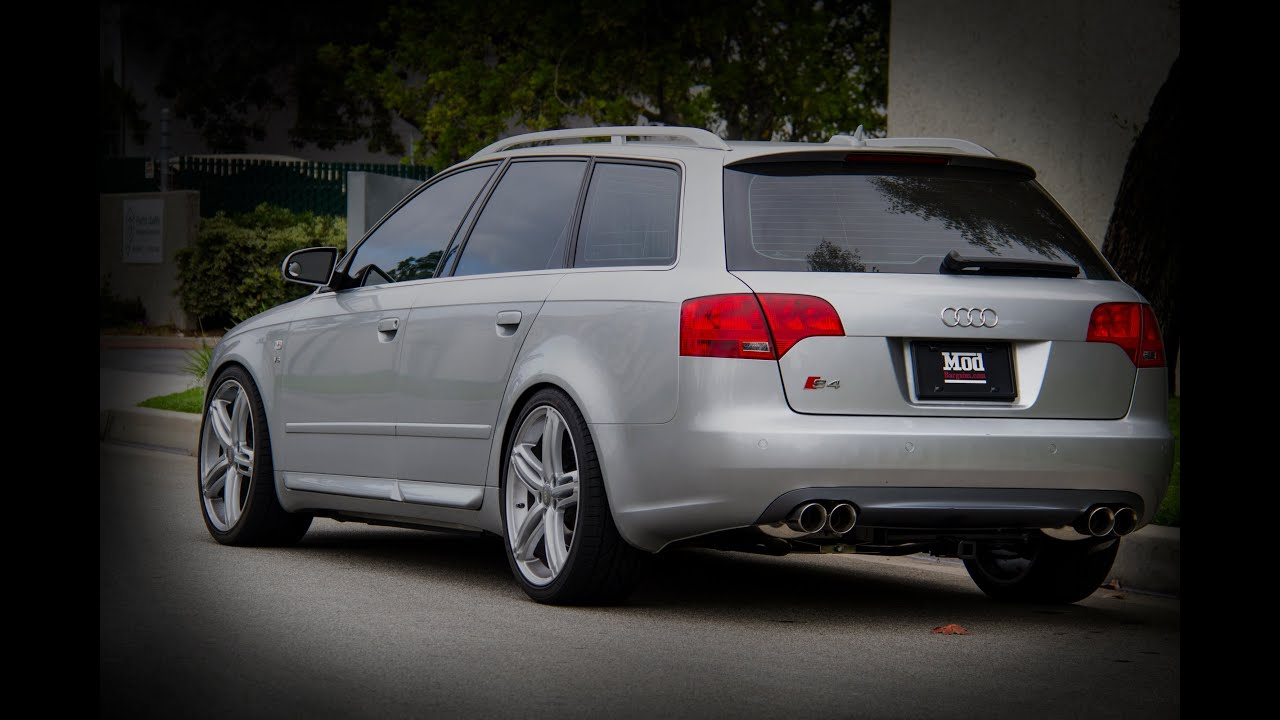 2006 audi b7 s4 avant lowered with h r springs stasis exhaust youtube