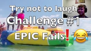 Try not to laugh challenge #1  Funny video Epic fails 2018 Reaction