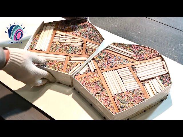 Карандаши и эпоксидная смола – Удивительная сумка