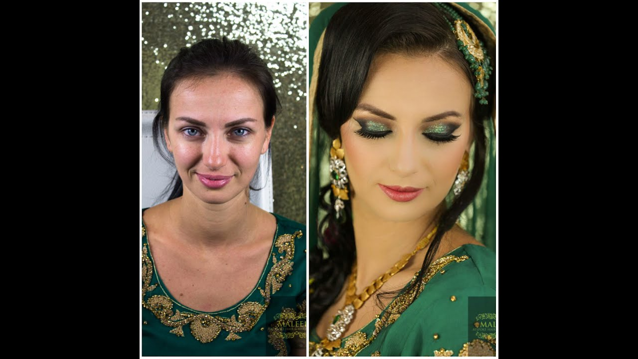 high wycombe asian bridal makeover -wedding mendhi look - youtube