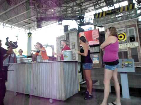 Fear Factor live in Orlando Florida We drank gross things