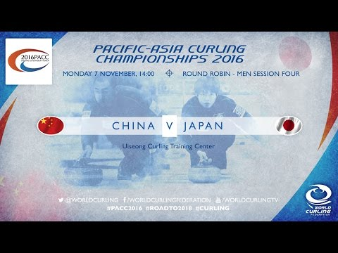 China v Japan (Men) - Pacific-Asia Curling Championships 2016
