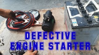Car NO START (Defective Starter) Starter Replacement