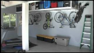 How To Organize Your Home : Garage Organization With Saferacks Ceiling Storage Racks