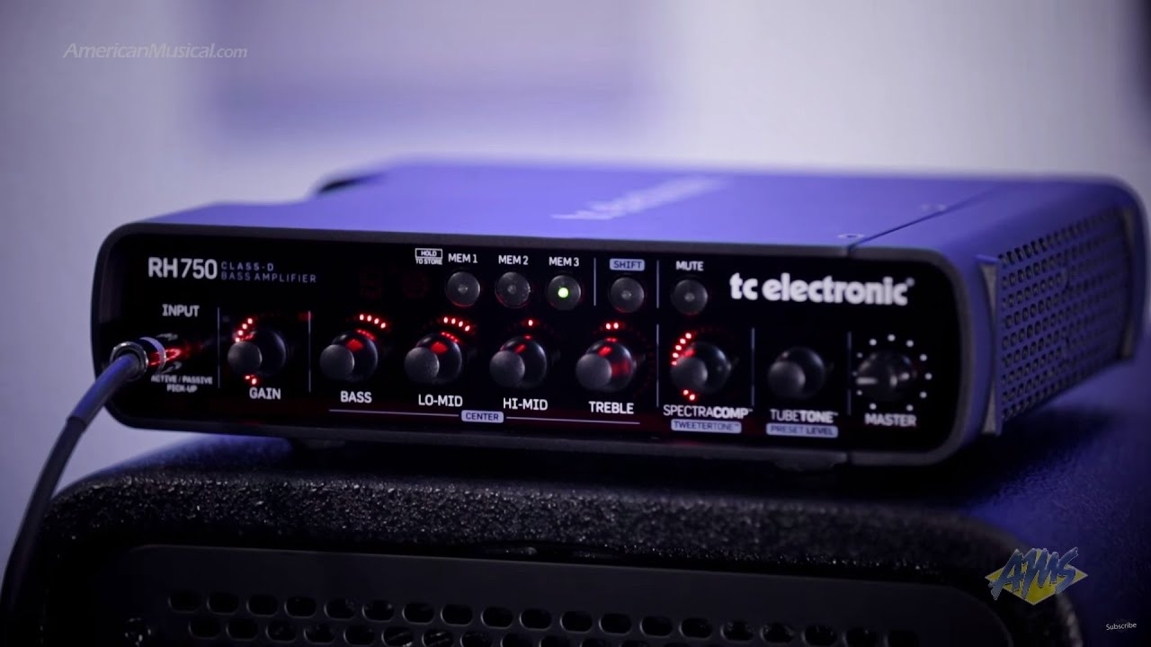 tc electronic rh750 bass guitar amplifier head tc electronic rh750 youtube. Black Bedroom Furniture Sets. Home Design Ideas