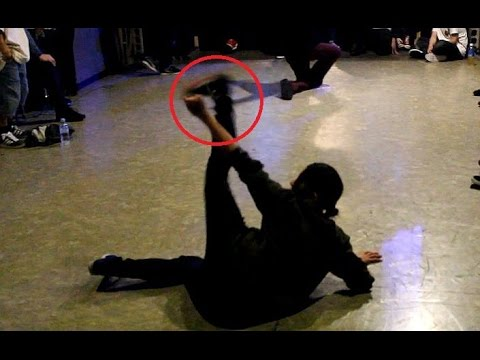 Bboy Chiba Nasty (Body Carnival) vs. flexible-style Bgirl. Battle De Kobe
