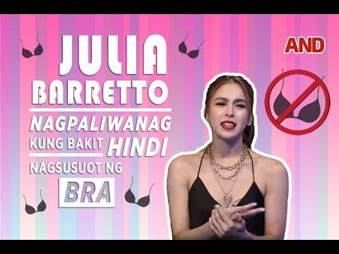 Julia Barretto nagpaliwanag kung bakit hindi nagsusuot ng bra