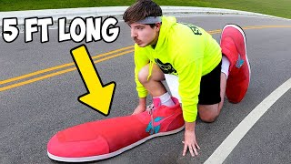 I Ran A Marathon In The World's Largest Shoes
