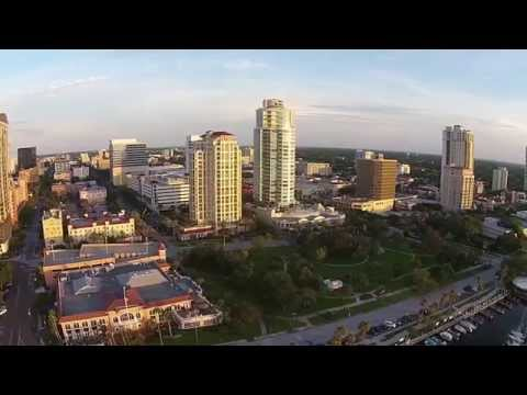 St Petersburg, Florida, USA from the air