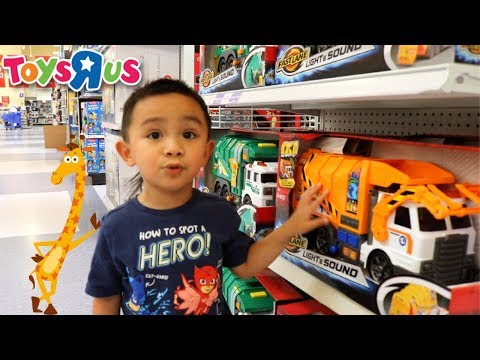 Toys R Us Shopping For Fire Truck Toys