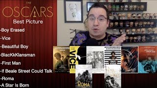 """Predicting """"The Big Five"""" Nominations For 2019 Oscars 