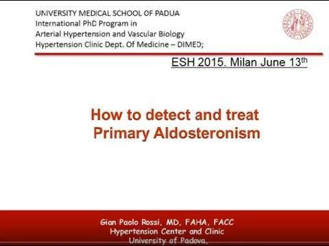 how to detect and treat hyperaldosteronism - YouTube