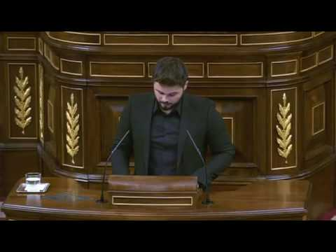 Gabriel Rufian speech at investiture debate of Mariano Rajoy, 02/09/2016 (English subs)