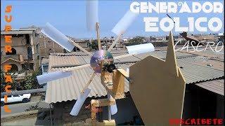 Como Construir un Generador Eólico Casero ¡¡¡SUPER FACIL!!!  Eolico Home Generator