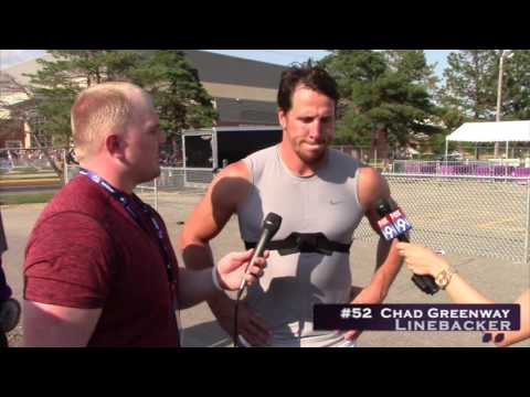 #52 Minnesota Vikings Linebacker Chad Greenway 8-3-16