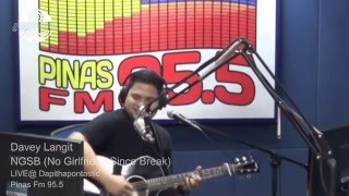 Davey Langit - NGSB (No Girlfriend Since Break) _ LIVE @ Dapithapontastic Pinas Fm 95.5