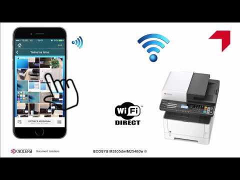 ECOSYS M2635dw/M2540dw  Configuración WiFi direct usando KYOCERA Mobile Print
