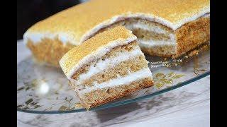 ЛЕНИВЫЙ МЕДОВИК ! Вкусный медовый торт без  раскатки коржей