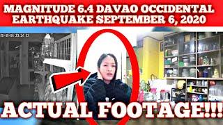 ACTUAL FOOTAGE  MAGNITUDE 6.4 EARTHQUAKE DAVAO OCCIDENTAL SEPTEMBER 6, 2020
