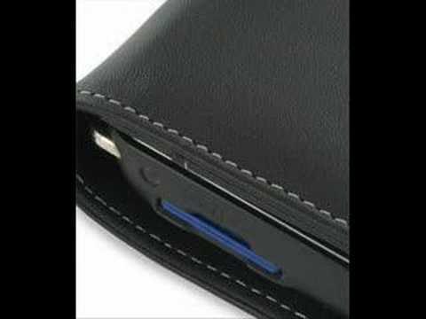 PDair Leather Case For Mitac Mio P350/P550 - Flip (Black)