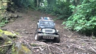 Repeat youtube video Tamiya CC01 FJ40 & SCX10 Jeep Defender Scale Rc Trailing Rock Crawling Eckington Woods