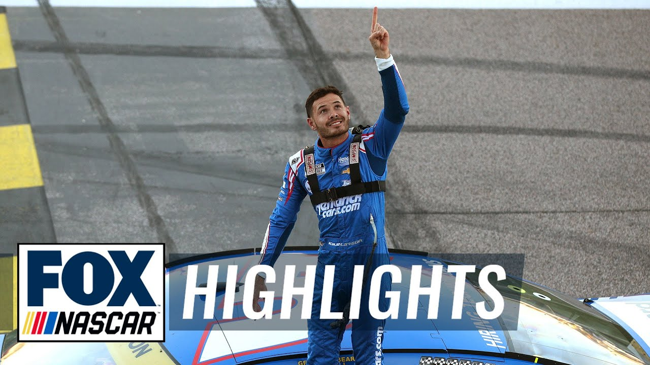 FINAL LAPS: Kyle Larson holds off late charge from Chase Elliott to win at Kansas | NASCAR ON FOX