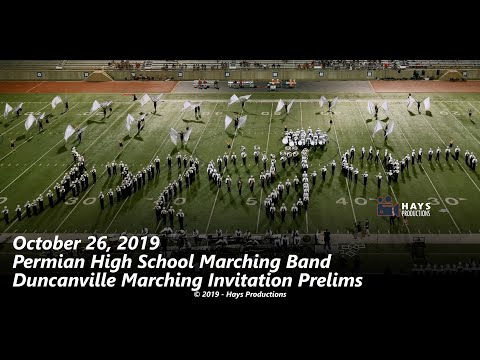 2019 Permian High School Marching Band - 10/26/2019 Duncanville Invitational Preliminary Performance