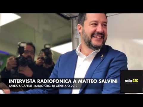 INTERVISTA RADIOFONICA A MATTEO SALVINI (RADIO CRC, 18.01.2019)