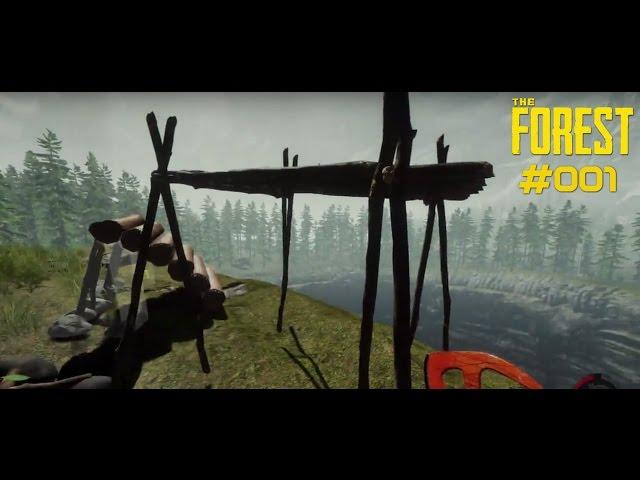 Let's Play The Forest | Der Anfang - Basis-Bau geht gut voran | Folge #001
