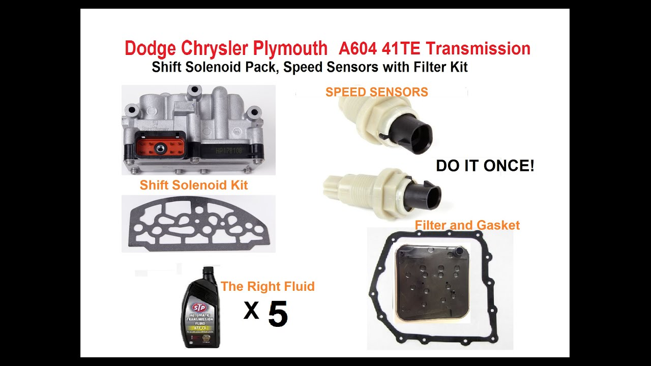 hight resolution of dodge chrysler plymouth eagle a604 41te transmission solenoid bad see below