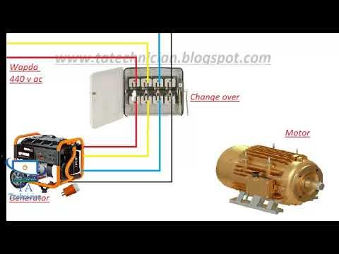 3 phase manual changeover switch wiring diagram  generator transfer  switch hindi / urdu