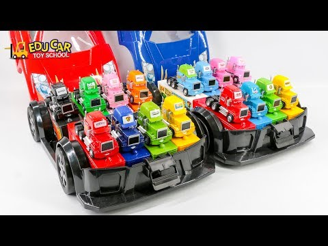Thumbnail: Learning Color Special Disney Pixar Cars Lightning McQueen Mack Truck car case for kids car toys