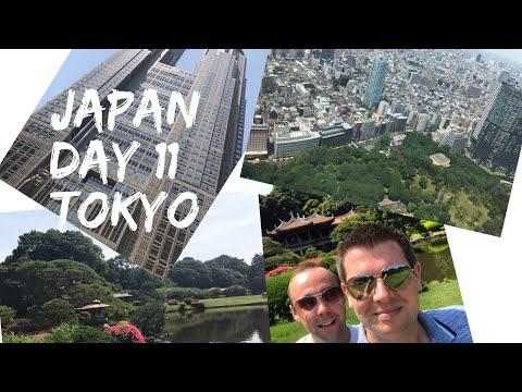 Japan Vlog - May 2017 - Day 11 - Shinjuku Gyoen National Garden and Tokyo Metropolitan Building