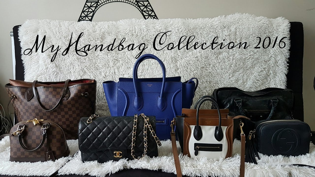 fe04087a8558 MY DESIGNER HANDBAG COLLECTION 2016 - YouTube