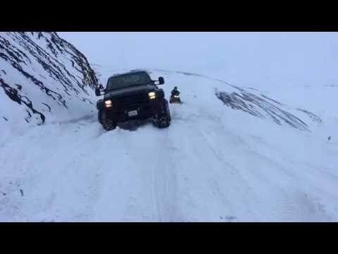 Discover offroad on a glacier
